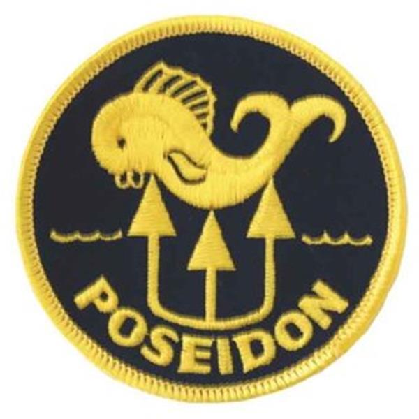 Poseidon Logo gestickt