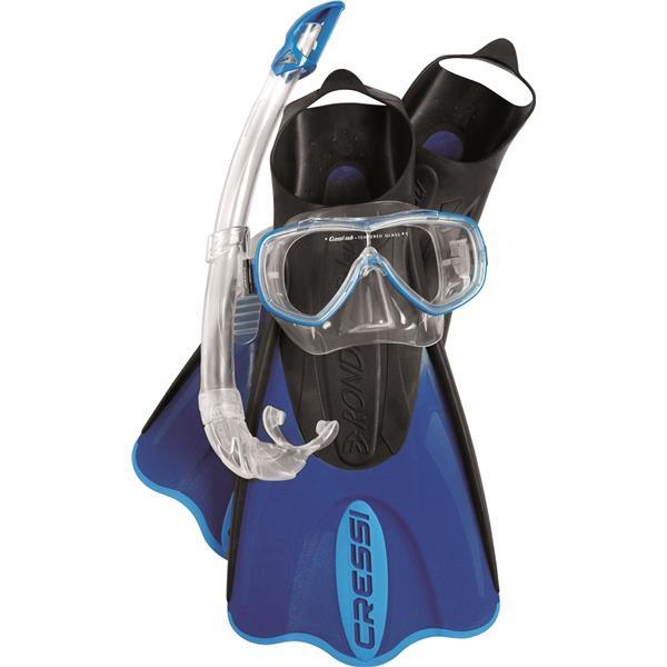 Cressi Sub Elastic Short Bag - Reiseschnorchel Set mit Maske, Schorchel, Flossen und Tragetasche