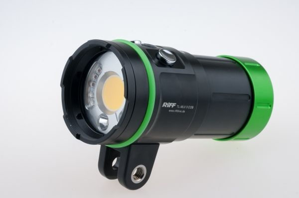 Riff MLV 3 COB Videolampe mit Spot Rot / und Blaulicht
