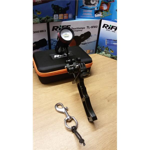 Set Riff TL MLV2 - Multi Video Lampe + Handgriff + Kugelverbinder + Boltsnap