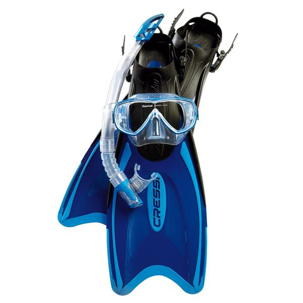 Cressi Reiseschnorchel Set - Palau Bag - Maske, Schnorchel, Flossen und Tasche