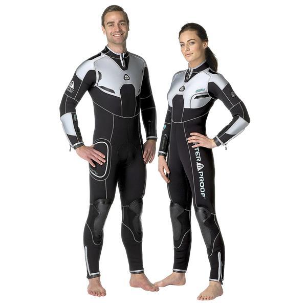 Einzelstück Waterproof W4 5mm Overall mit Rücken-RV - Damen-Tauchanzug