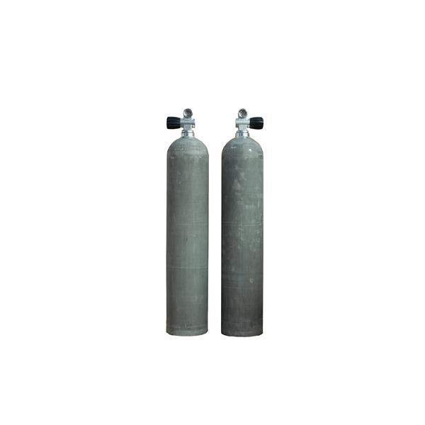 MES Aluminium Set 1x 11,1L 207 bar mit Ventil 12144 + 1x 11,1L 207 bar mit Ventil 12144RE