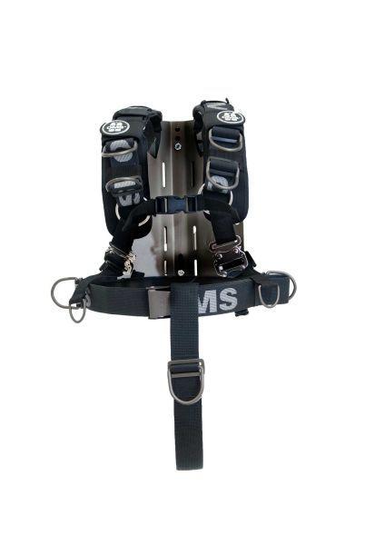 OMS Aluminum Backplate mit Comfort Harness System III und Schrittgurt