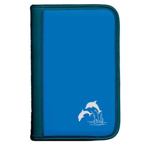 Sub-Base sub-book Farbe Blau und Motiv Delphine - Taucherlogbuch