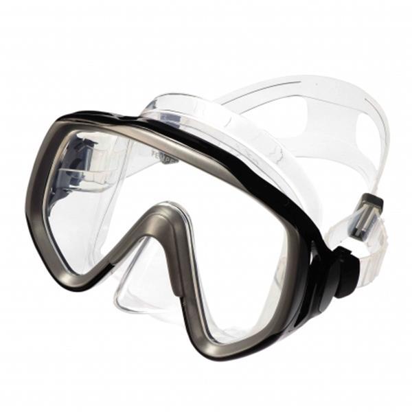 Aquatec Einglastauchmaske schwarzer Rahmen - Big View
