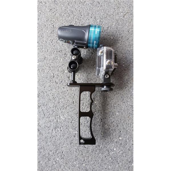 Riff Bundle Pistolengriff / Handgriff für Tauchlampe und ActionCam + Kugelkopfverbinder