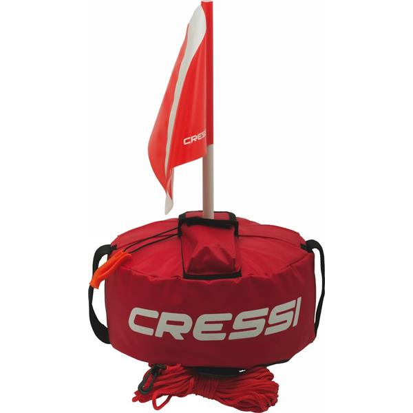 Cressi Sub Tonda Buoy / Marker Buoy - zweischalige Boje mit Fahne