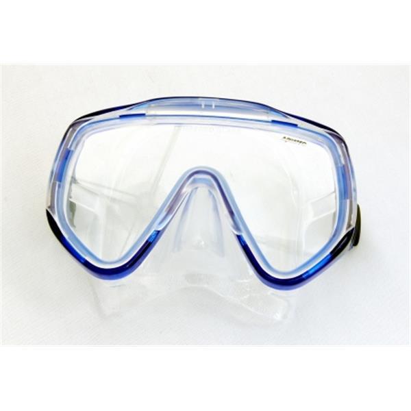 Aquatec Einglastauchmaske blauer Rahmen - Big View