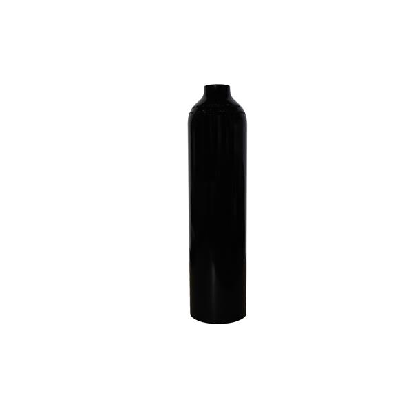 MES Aluminium 2L 200 bar schwarz mit Ventil 12800