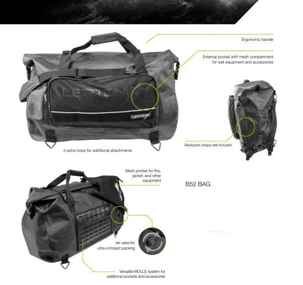 Leptonix Ballistic Gear Bag 52l